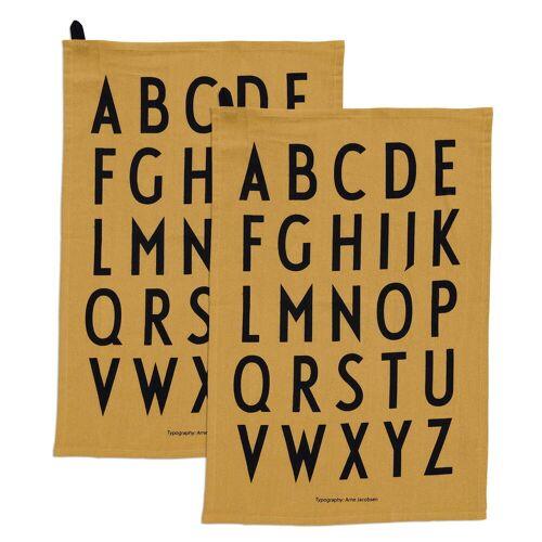 Design Letters - Classic Geschirrtuch, honig (2er-Set)