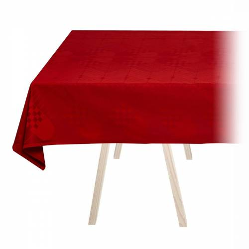 Georg Jensen Damask - Weihnachts-Tischdecke, 140 x 200 cm / tiefrot