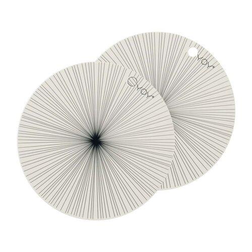 OYOY - Tischsets Ray Ø 36 cm, off-white (2er-Set)
