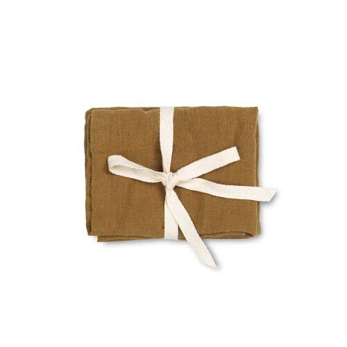 ferm LIVING - Leinen Servietten, 45 x 45 cm, sugar kelp (2er-Set)