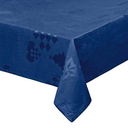 Juna - Natale Tischdecke 150 x 220 cm, blau