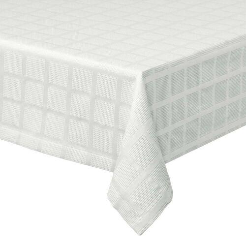 Juna - Brick Damast Tischdecke, 150 x 220 cm, weiß