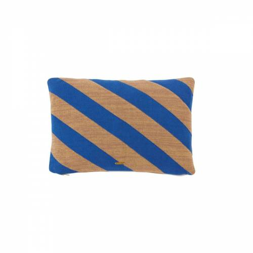 OYOY - Takara Kissen, 35 x 50 cm, optik blau / kamel