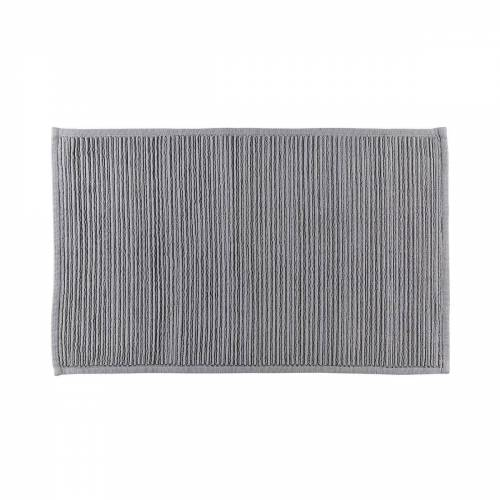Södahl - Plissé Badezimmermatte, 50 x 80 cm, grau