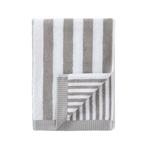 Marimekko - Kaksi Raitaa Handtuch 50 x 100 cm, grau / weiß