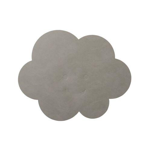 LindDNA - Kinder-Tischset Wolke, Nupo hellgrau