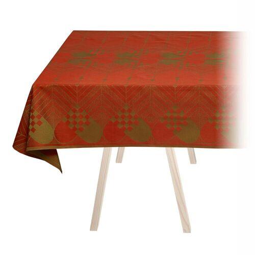 Georg Jensen Damask - Weihnachts-Tischdecke, 140 x 240 cm / weihnachtsrot