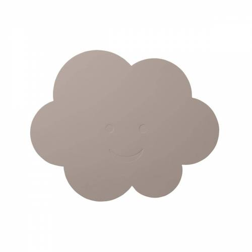 LindDNA - Kinder-Tischset Wolke, Softbuck cool grey