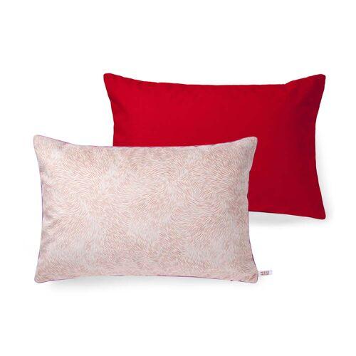 Petite Friture- Volutes Kissen, 60 x 40 cm, pink