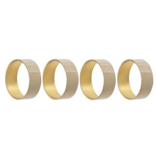 Bloomingville - Serviettenring Metall, Ø 4,5 x H 1,5 cm, gold (4er-Set)