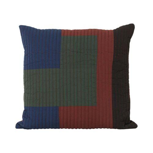 ferm LIVING - Shay Quilt Kissen, 50 x 50 cm, zimt