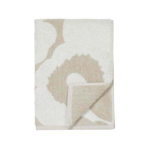 Marimekko - Unikko Handtuch 50 x 100 cm, beige / weiß