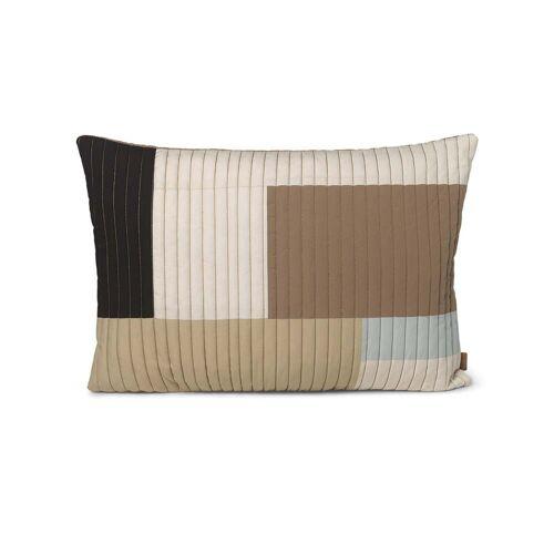 ferm LIVING - Shay Quilt Kissen, 60 x 40 cm, desert