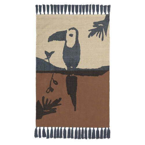 Nofred - Tukan Kinderteppich 150 x 100 cm, braun