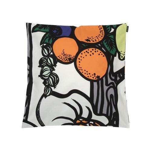 Marimekko - Pala Taivasta Kissenbezug 50 x 50 cm, weiß / orange / grün