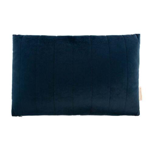 Nobodinoz - Akamba Samt-Kissen, 45 x 30 cm, night blue