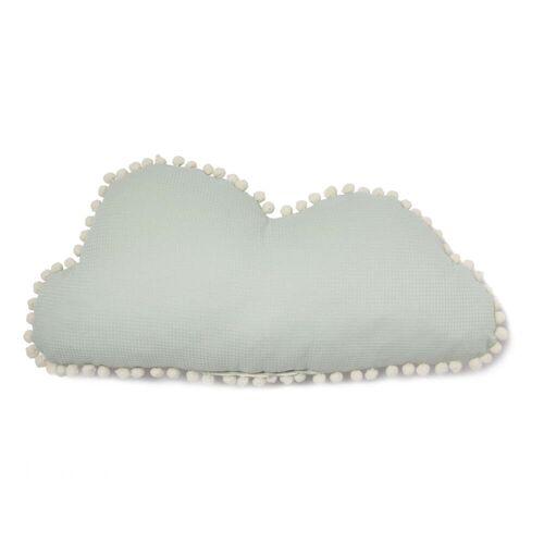Nobodinoz - Cloud Marshmallow Kissen, 30 x 58 cm, aqua
