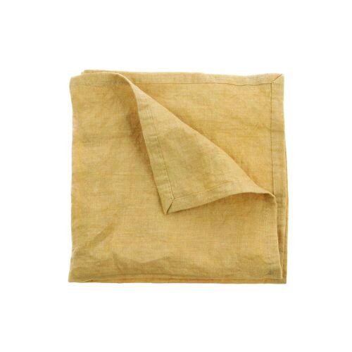 HKliving - Leinen Servietten, 45 x 45 cm (2er-Set), gelb
