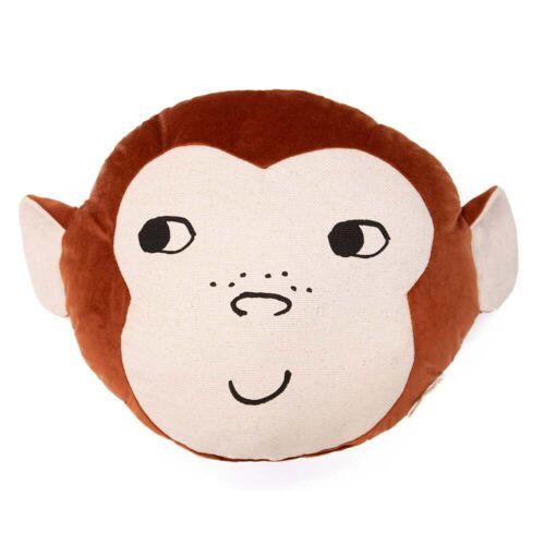 Nobodinoz - Monkey Kissen, 32 x 35 cm, wild brown