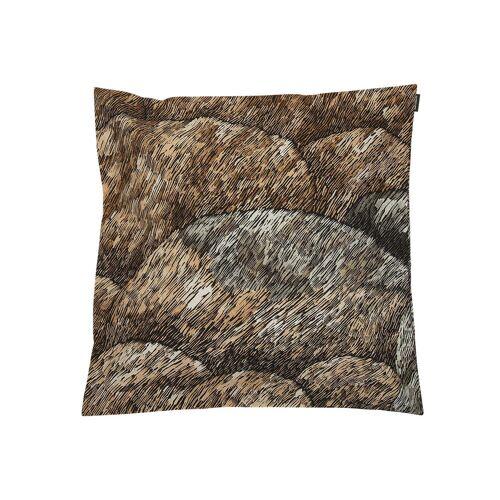 Marimekko - Kokadera Kissenbezug 50 x 50 cm, schwarz / braun / dunkelgrün