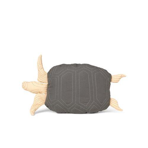 ferm LIVING - Schildkröte Kissen, gesteppt, deep forest