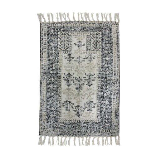 HKliving - Bedruckter Badteppich 60 x 90 cm, schwarz / weiß