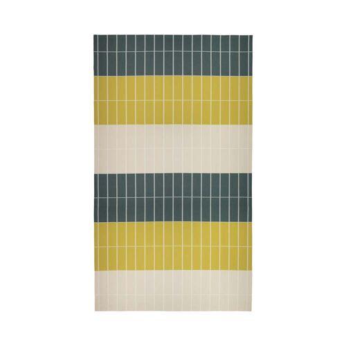 Marimekko - Tiiliskivi Tischdecke 156 x 280 cm, dunkelgrün / sand / messing