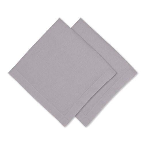 Connox Collection - Leinen Serviette, 45 x 45 cm, 2er-Set, hellgrau