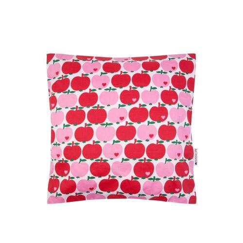 byGraziela - Kissenbezug Apfel, 40 x 40 cm, rot