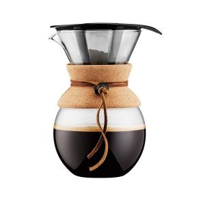 Bodum - Pour Over Kaffeebereiter mit Permanentfilter 1 l, kork