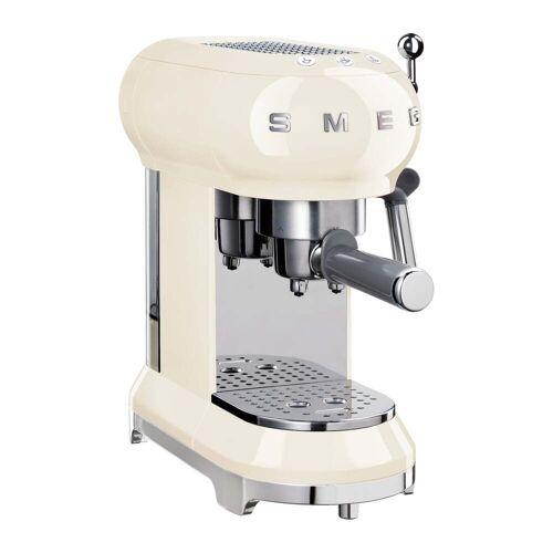 SMEG - Espresso Kaffeemaschine mit Siebträger ECF01, creme