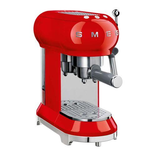 SMEG - Espresso Kaffeemaschine mit Siebträger ECF01, rot
