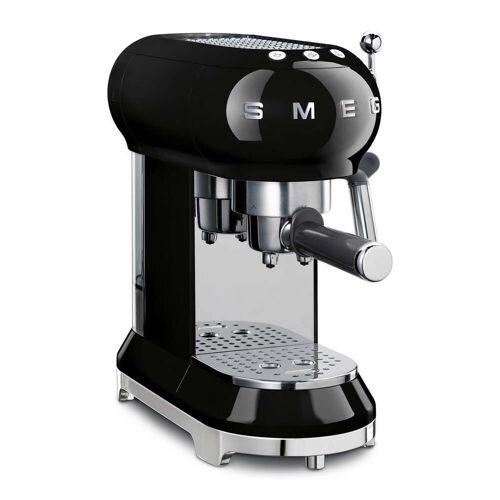SMEG - Espresso Kaffeemaschine mit Siebträger ECF01, schwarz