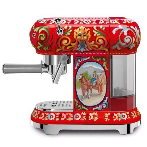 SMEG - Espresso Kaffeemaschine mit Siebträger ECF01, Dolce & Gabbana