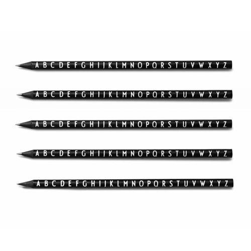 Design Letters - AJ Bleistifte, schwarz (5er -Set)