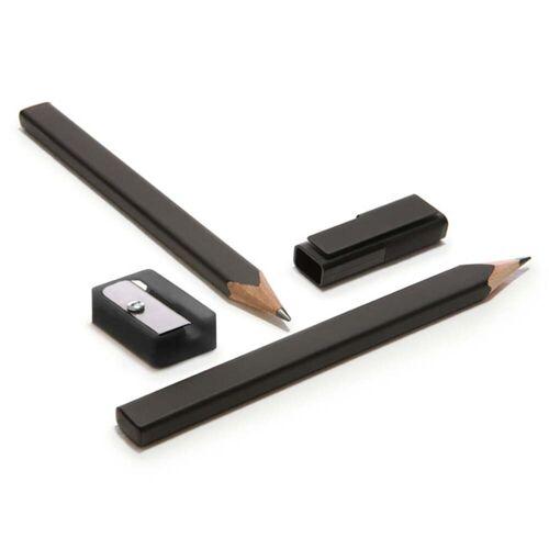 Moleskine - Bleistift-Set mit Anspitzer und Kappe, schwarz