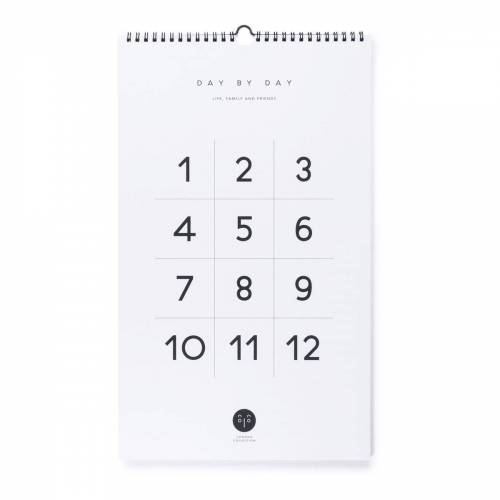 Connox Collection - Day by Day Wandkalender, weiß