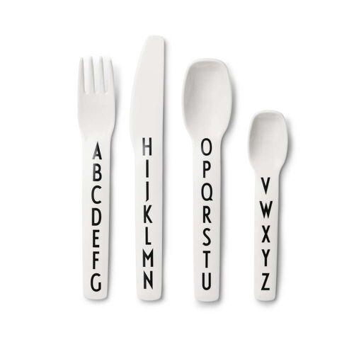 Design Letters - AJ Melamin Besteck-Set, weiß