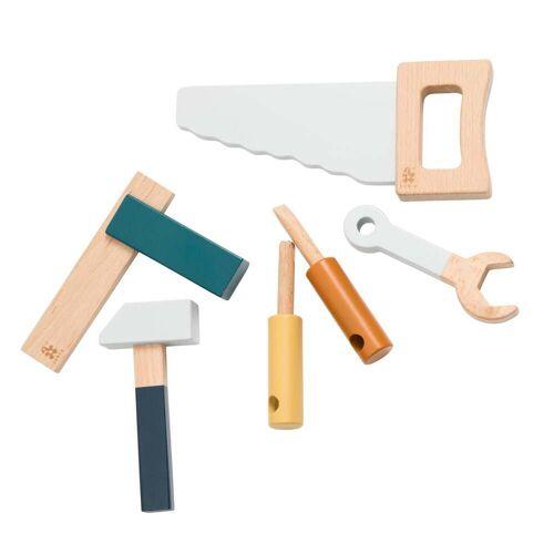 Sebra - Holzwerkzeug-Set, grau
