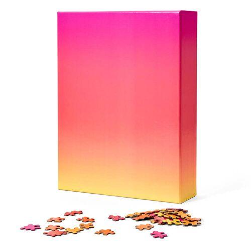 Areaware - Farbverlauf Puzzle, pink / orange / gelb (1000-tlg.)