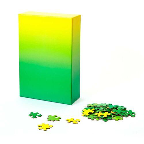 Areaware - Farbverlauf Puzzle, grün / gelb (500-tlg.)