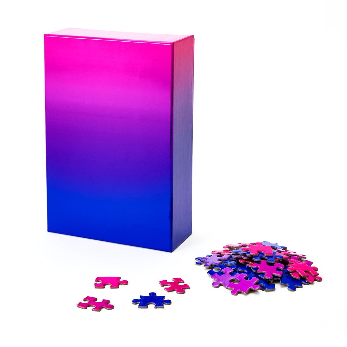 Areaware - Farbverlauf Puzzle, blau / rosa (500-tlg.)