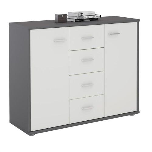 CARO-Möbel Sideboard JAMIE in grau/weiß