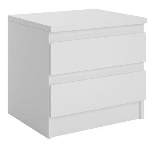 CARO-Möbel Nachttisch ASTER in weiß