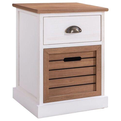 CARO-Möbel Nachttisch CULTURA im Landhausstil