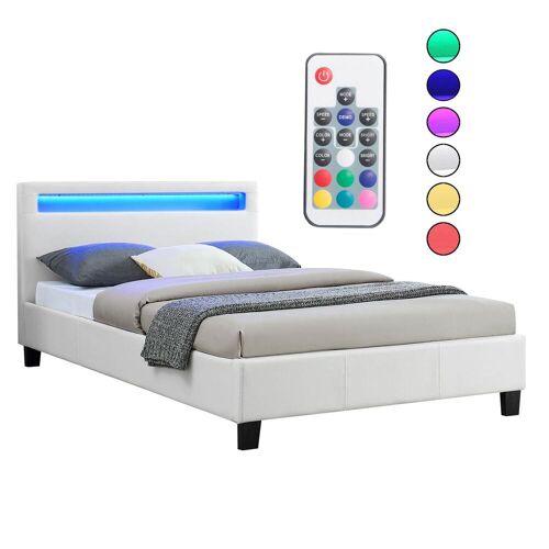 CARO-Möbel Polsterbett MIRASOL mit LED 120 x 200 cm inkl. Lattenrost