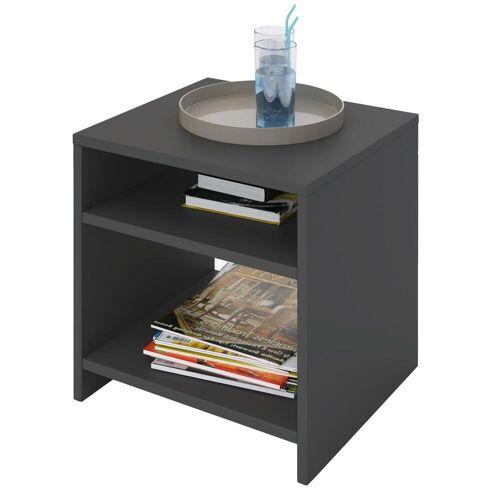 CARO-Möbel Beistelltisch ALMERIA grau mit 2 Fächern