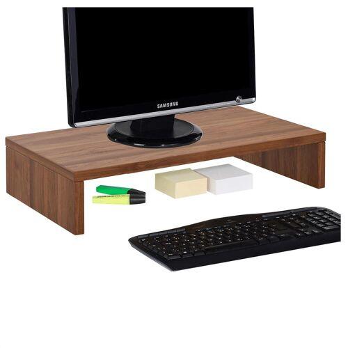 CARO-Möbel Bildschirmaufsatz MONITOR in nussbaum, 50 cm breit