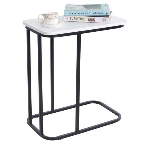 CARO-Möbel Beistelltisch RECIFE in weiß/schwarz