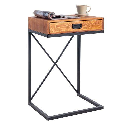 CARO-Möbel Beistelltisch IGNACIO mit 1 Schublade